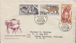Czechoslovakia, First Day Cover, Animals