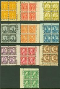 EDW1949SELL : USA 1926-34 Scott #632-35, 637-42 P/B of 4 MNH All nice. Cat $277.