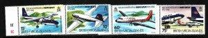 Virgin Is.-Sc#434-7-unused  NH set-Planes-Aircraft-Air BVI-id2-1982-