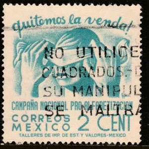 MEXICO 806, 2¢ Blindfold, Literacy Campaign Used. VF. (841)