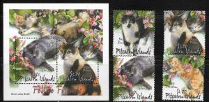 Pitcairn Island 557-60 Cats Mint NH