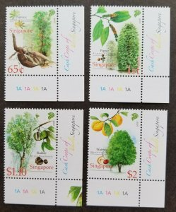 Singapore Cash Crops Of Early Plants 2008 Tree Fruit Plant (stamp plate) MNH
