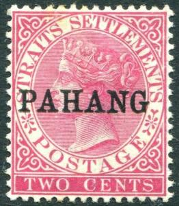 PAHANG-1890 2c Bright Rose Sg 6 MOUNTED MINT V31440
