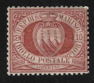 San Marino Scott 9 MH* 1899 stamp