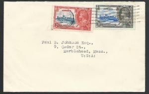 JAMAICA 1935 cover to USA, Jubilee 1d & 1½d................................53137