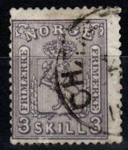 Norway #13  F Used CV $160.00 (X1282)