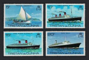 Tristan da Cunha Visit of 'Queen Elizabeth 2' 4v SG#259-262