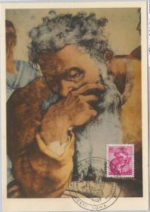 56869 -  ITALY -  POSTAL HISTORY - MAXIMUM CARD: 1961  MICHELANGELO 90 L. - ART