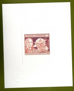 Central Africa proof of gold issue Mi 1201. Columbus Space Shuttle Ship