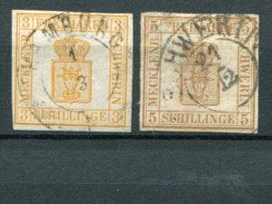 Mecklenburg Schwerin  Mi #7,#8 used  VF- Lakeshore Philatelics