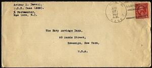 GIBRALTAR 1927 cover posted on USS CASE at Gibraltar.......................98461