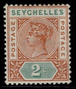 SEYCHELLES QV SG28, 2c orange-brown & green, M MINT.