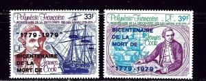 French Polynesia C166-67 MNH 1979 Overprints