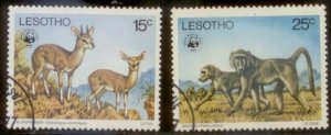 Lesotho 1977 SC# 231-2 Used L156