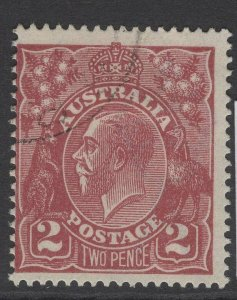 AUSTRALIA SG78 1924 2d RED-BROWN USED