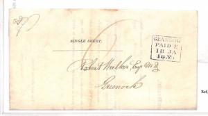 BD195 1839 GB Scotland *GLASGOW* Early Amicable Printed Letter Sheet PTS