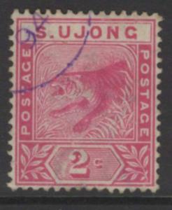 MALAYA SUNGEI UJONG SG50 1891 2c ROSE USED