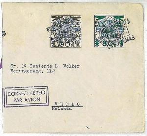 SPAIN ESPANA: POSTAL HISTORY: NICE AIRMAIL COVER AEREO