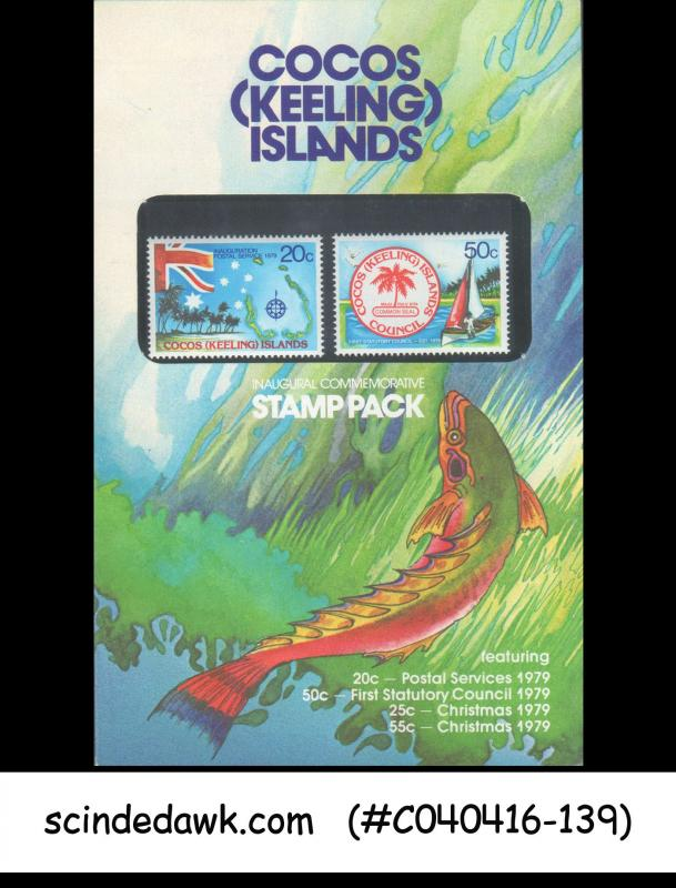 COCOS (KEELING) ISLANDS - 1979 INAUGURAL COMMEMORATING STAMPPACK