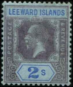 Leeward Islands SC# 77 George V 2shillings wmk4 MH
