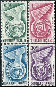 1962 Togo 335-338 Yuri Gagarin