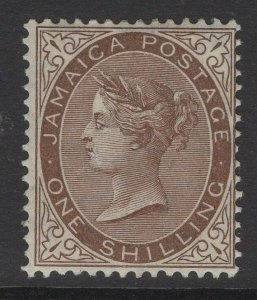 JAMAICA SG53 1906 1/= BROWN MTD MINT TONE SPOT