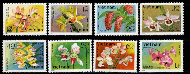 Unified Viet Nam Scott 1017-1020 Used CTO Flower set perforated