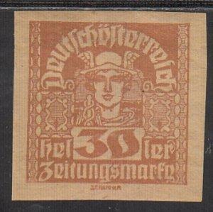 Austria, Sc P40, MNH, 1921, Mercury