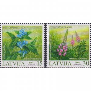 Latvia 2004 Protected Plants of Latvia  (MNH)  - Flora, Flowers