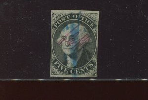 Scott 9X1 Washington Postmasters Provisional Used Stamp with Crowe Cert (9X1-C1)