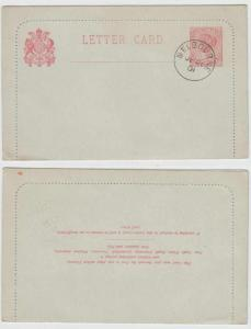 AUSTRALIA VICTORIA 1901 PS LETTER CARD H&G A9 ENTIRE MELBOURNE Cds VF SCARCE