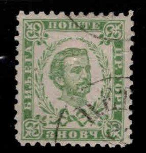 Montenegro Scott 16 Used  CTO Prince Nicholas 1893 late printing perf 10.5