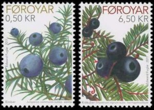 Faroe Islands 2011 #564-5 MNH. Blueberries