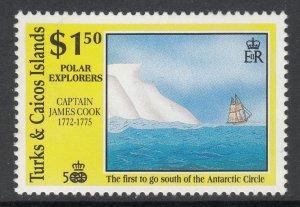 Turks and Caicos 890 Sailing Ship MNH VF