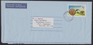 FALKLAND IS 1976 8p on formular airleter used Port Stanley to UK............4083