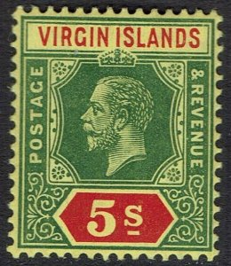BRITISH VIRGIN ISLANDS 1913 KGV 5/-