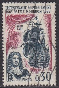France 1134 USED 1965 Tercentenary of Reunion