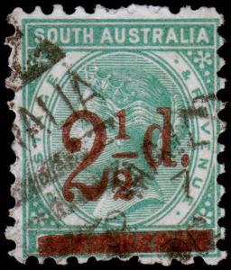 South Australia Scott 94a (1891) Used F, CV $20.00 M