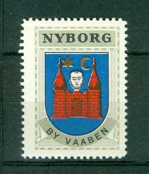 Denmark. Poster Stamp 1940/42. Mnh. Town: Nyborg. Coats Of Arms.Castle,Head,Star