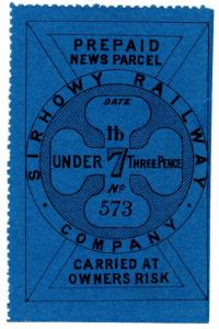 (I.B) Sirhowy Railway : Newspaper Parcel 3d