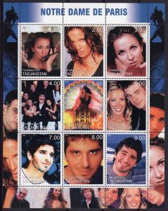 Tajikistan 2000 NOTRE DAME DE PARIS Musical Sheetlet (9) MNH