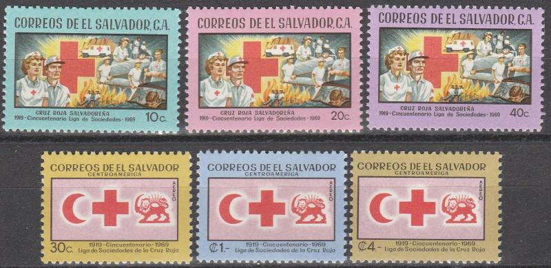 Salvador #795-7, C256-8  F-VF Unused  CV $6.60  (A6386)