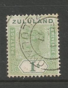 ZULULAND  1894-96  1/-  QV  FU  SG 25