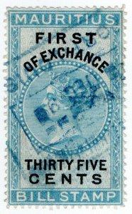 (I.B) Mauritius Revenue : Bill of Exchange 35c (First)