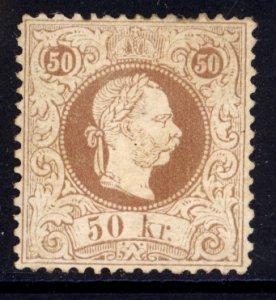 Austria 1874  Scott #40b MLH perf 12