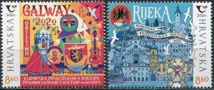 Croatia 2020. European Capitals of Culture (MNH OG) Set of 2 stamps