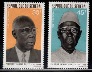 Senegal #C70-C71 MNH Pres. Lamine Gueye CV$2 [126725]