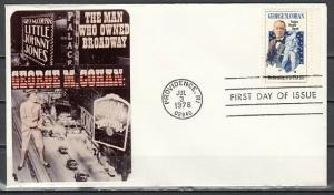 United States, Scott cat. 1756. George M. Cohan, Actor. First day cover. ^