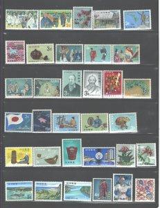 RYUKYUS iSL.or RYUKYU ARC or NANSEI Isl> SMALL ACCUMULATION 1954-1972 MNH