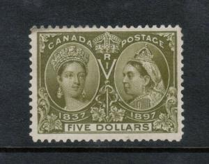 Canada #65 Very Fine Mint Unused (No Gum) Trifle Toning At Upper Left (Trivial)